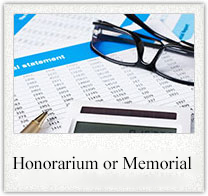 Honorarium or Memorial Gift