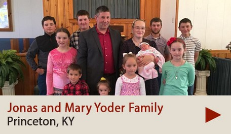 Jonas and Mary Yoder Family