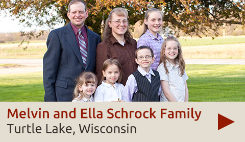 Melvin and Ella Schrock Family